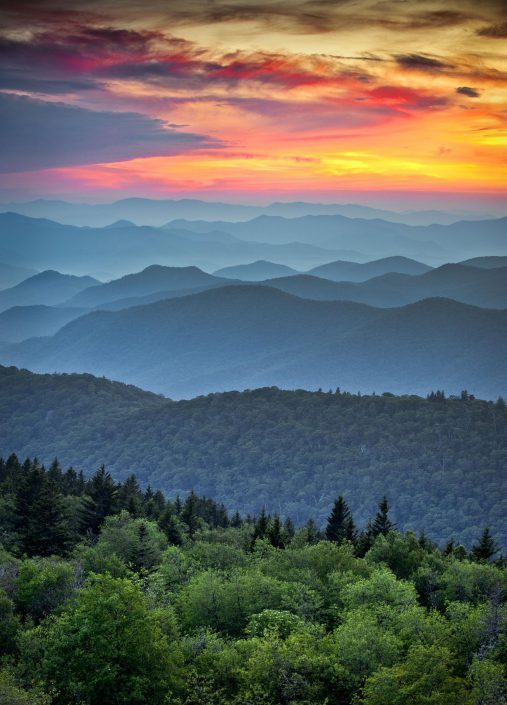Blue Ridge Mountain sunset