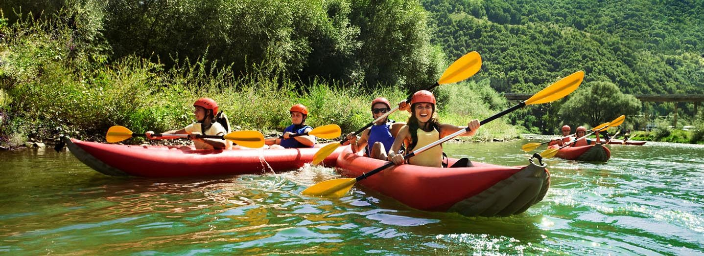 canoeing on the French Broad River