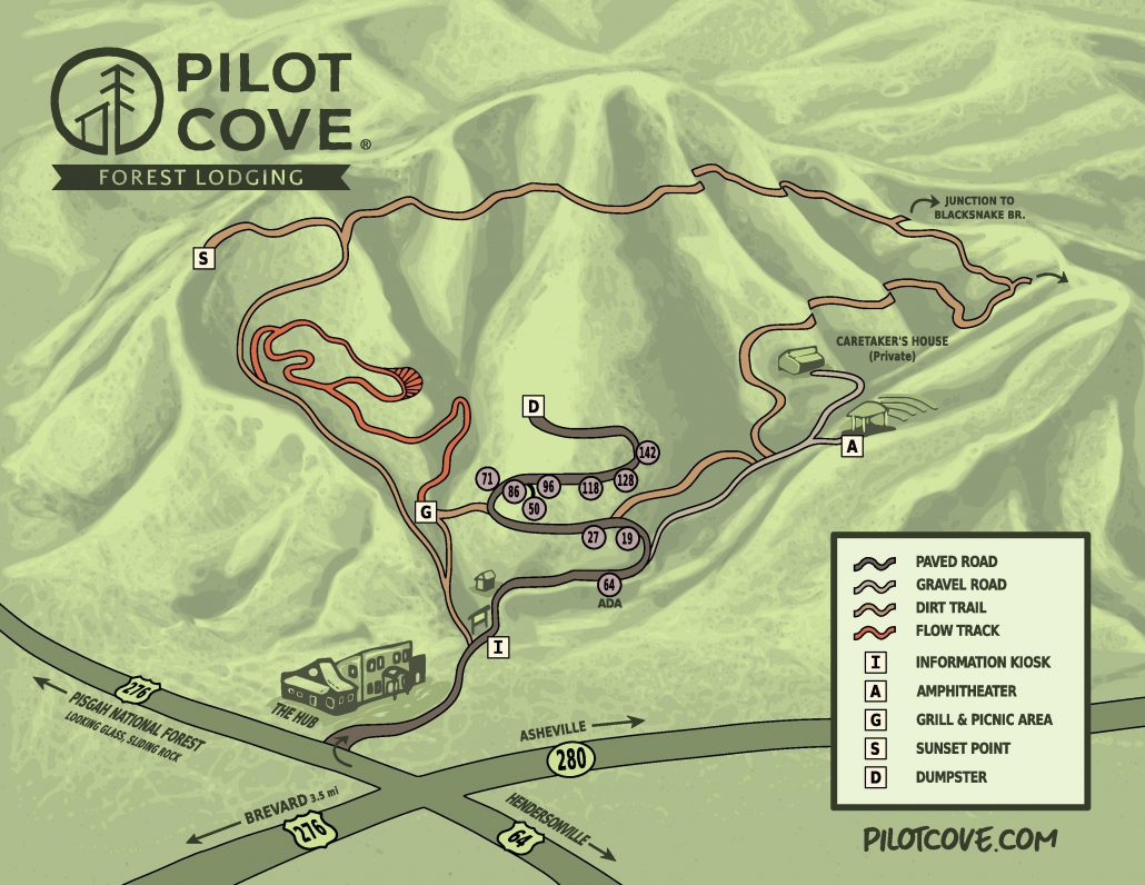 Pisgah Forest Nc Map.Lodging Brevard Pilot Cove Pisgah Forest Nc