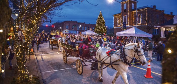 Christmas parade in Brevard, NC