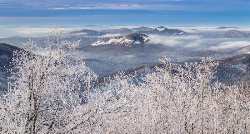 Looking Glass Rock in NC in Winter